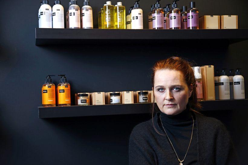 Sóley Elíasdóttir, founder of Sóley Organics pictured with her products.