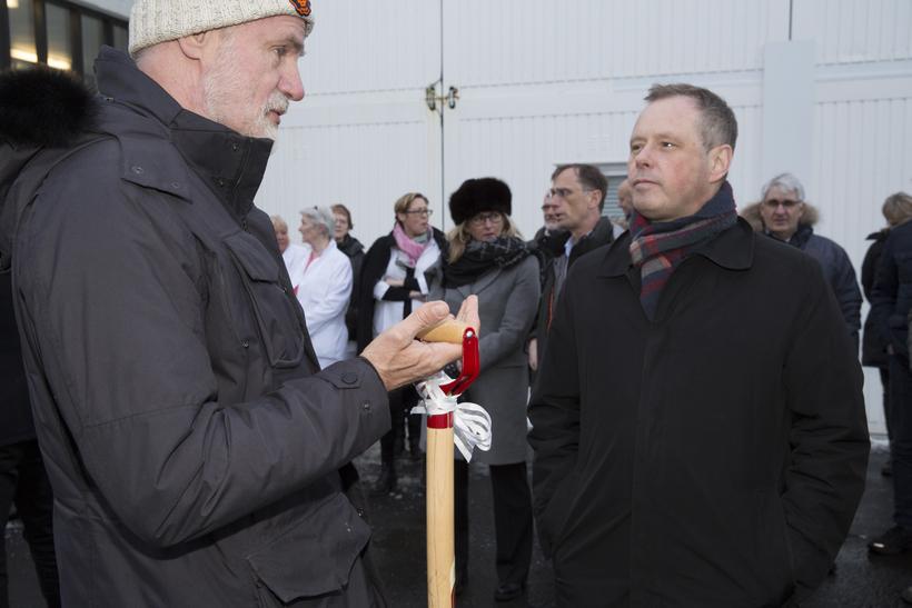 Kári Stefánsson, forstjóri Íslenskrar erfðagreiningar og Páll Matthíasson, forstjóri Landspítala.