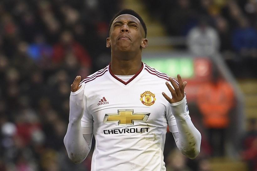 Anthony Martial, framherji Manchester United á Englandi.