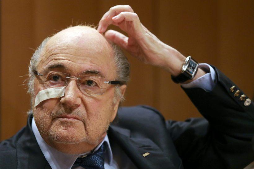 Kosið verður um eftirmann Sepp Blatter í dag.