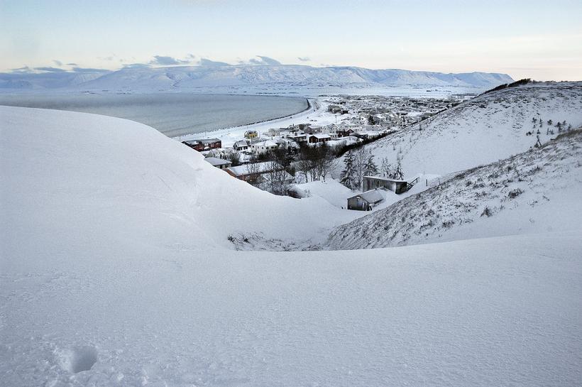 Flóðið úr Kristjánsklauf í nóvember 2012 setti norður- og vesturhlið ...
