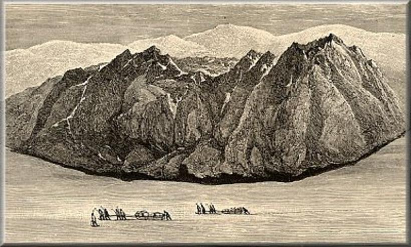 A drawing by William Lord Watts from his Iceland journey.