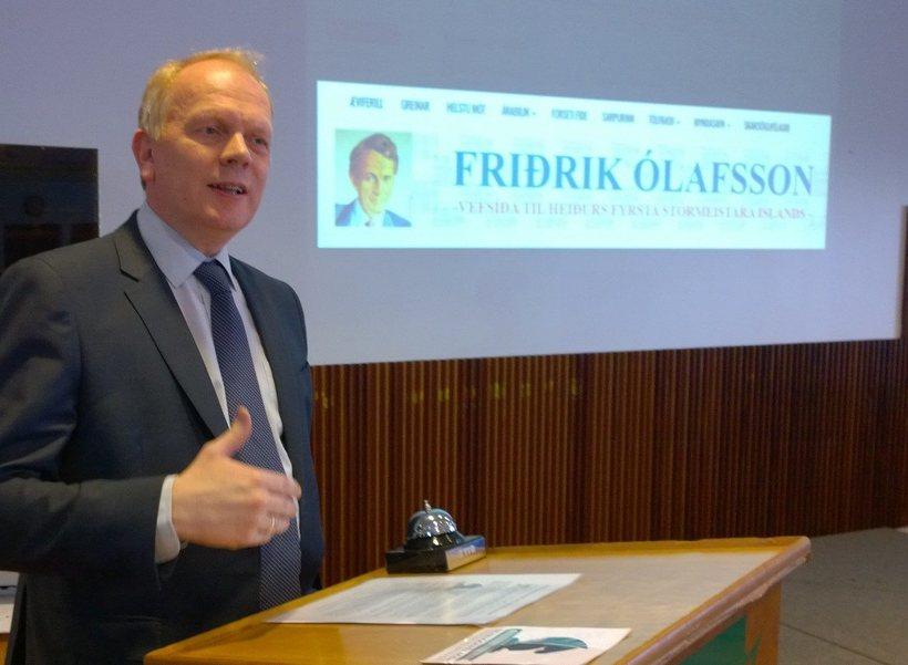 Illugi Gunnarsson menntamálaráðherra opnaði síðuna við sérstaka athöfn.