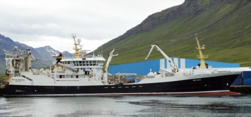 Polar Amaroq landaði fyrstu loðnu ársins.