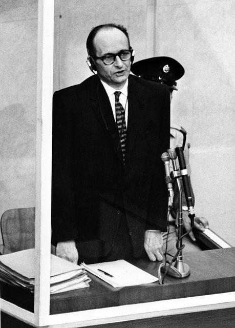 Þessi mynd af Adolf Eichmann var tekin 11. apríl 1961, ...