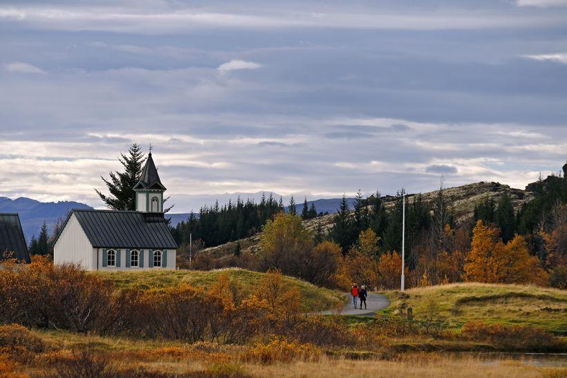 Þingvellir er vinsæll áfangastaður meðal erlendra ferðamanna.