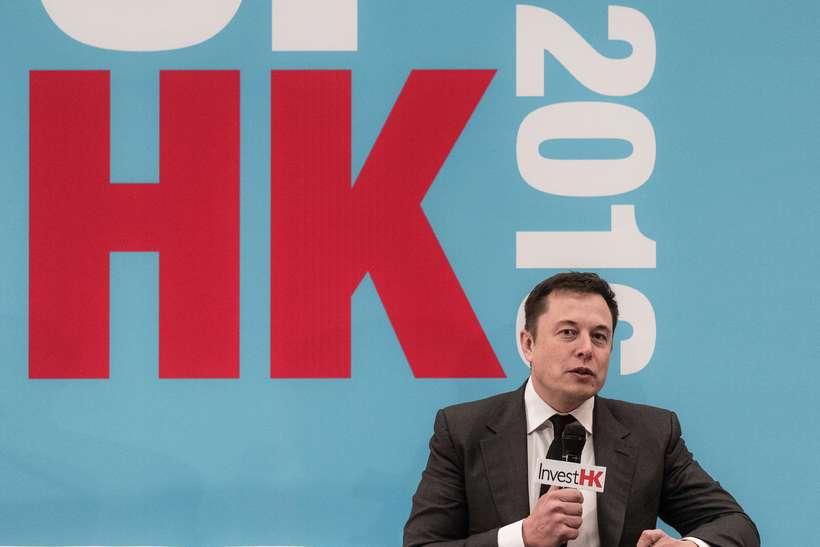 Elon Musk á ráðstefnu í Hong Kong í vikunni.