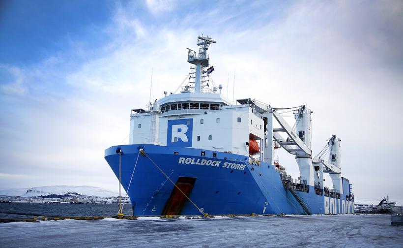 Rolldock Storm með Galilei 2000 um borð við Skarfabakka í ...