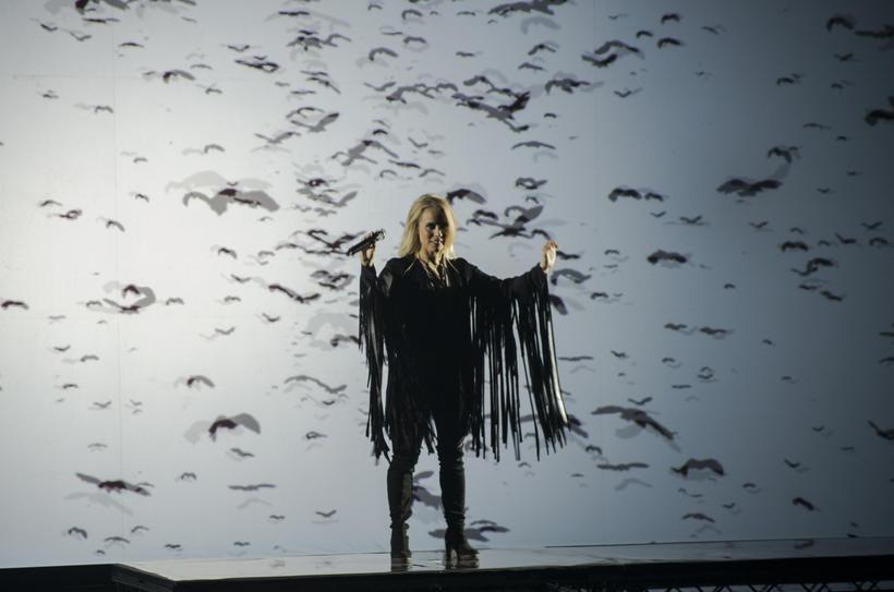 Greta Salóme Stefánsdóttir flytur lag sitt Hear Them Calling, eða ...