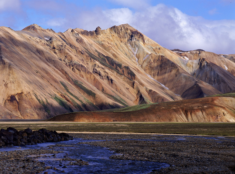The astounding geothermal landscapes of Landmannalaugar in the highlands.
