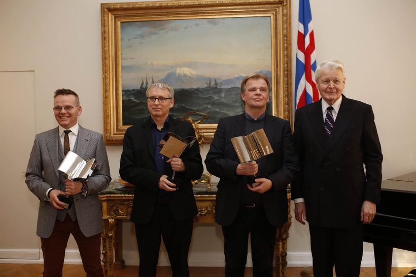 Gunnar Helgason, Gunnar Þór Bjarnason og Einar Már Guðmundsson ásamt ...