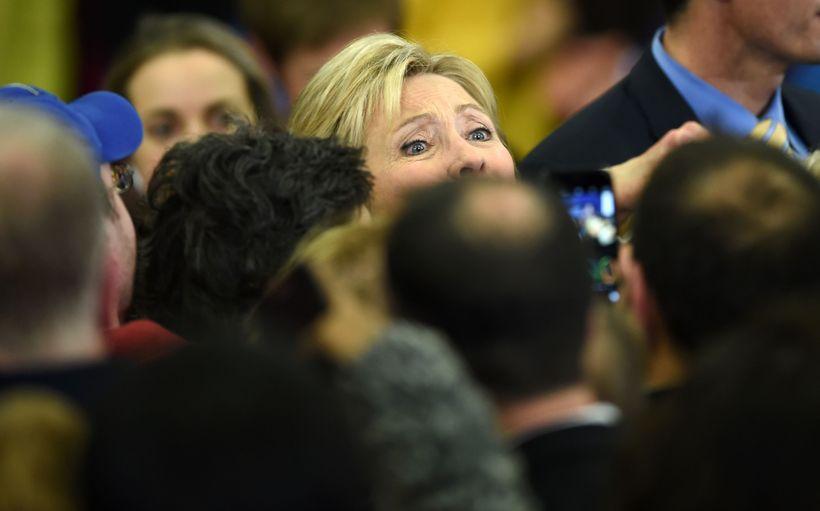 Ósigur Clinton í New Hampshire var stór en henni er ...