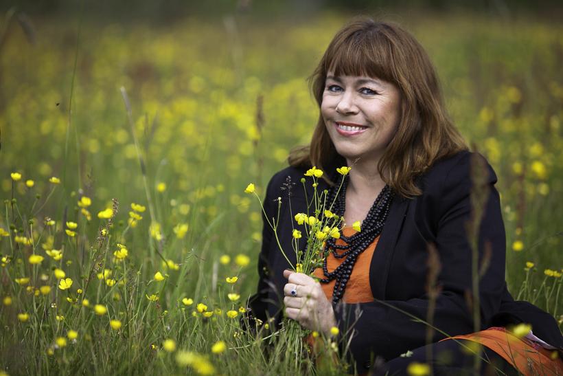 Helga Braga Jónsdóttir, skemmtikraftur og flugfreyja hjá WOW, segist vel ...