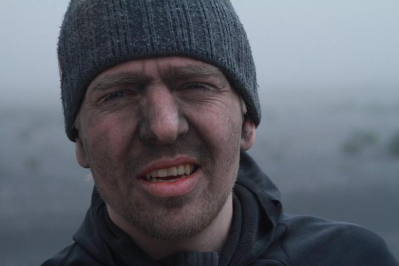 Ragnar í tökum við öskufallið í Eyjafjallajökli árið 2010.