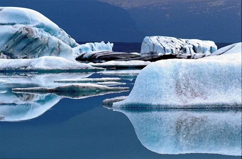 The Jökulsárlón glacial lagoon in East Iceland is one of ...