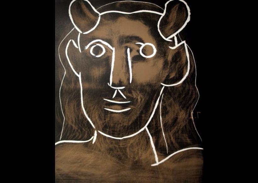 Tête de Faune málverkið eftir Pabla Picasso. Það er núna ...