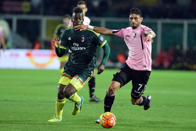 Mario Balotelli í leik með AC Milan á tímabilinu.