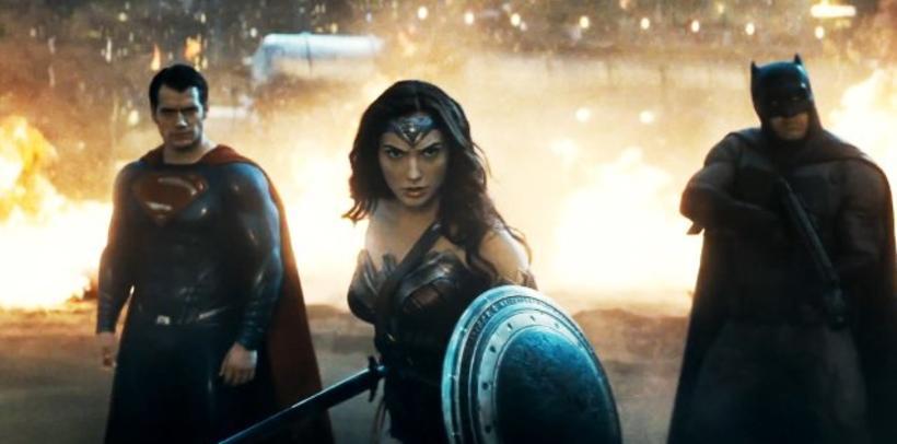 Ofurmennið, Wonder Woman og Leðurblökumaðurinn í Batman v Superman.