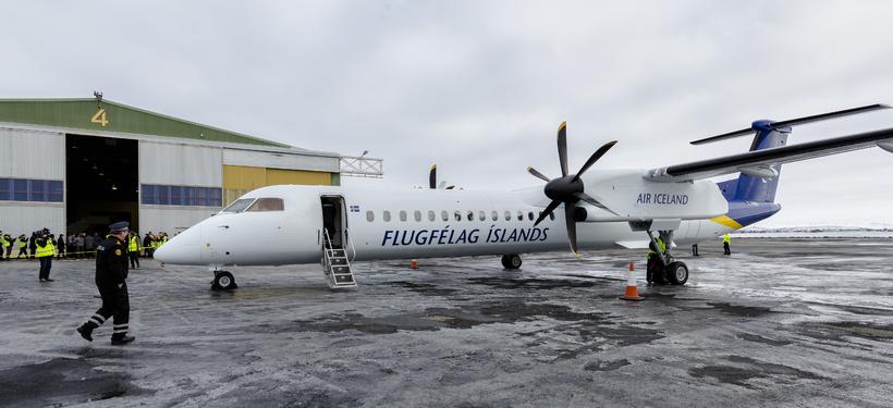 Ný flugvél Flugfélags Íslands kemur til Reykjavíkur