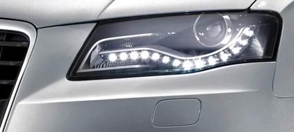 LED-ljós.