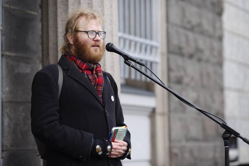 Björn Reynir Halldórsson, sagnfræðingur, var fundarstjóri