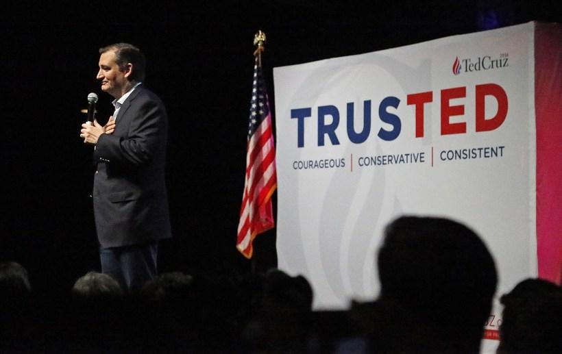 Öldungardeildarþingmaðurinn Ted Cruz þarf að leggja allt sitt traust á ...