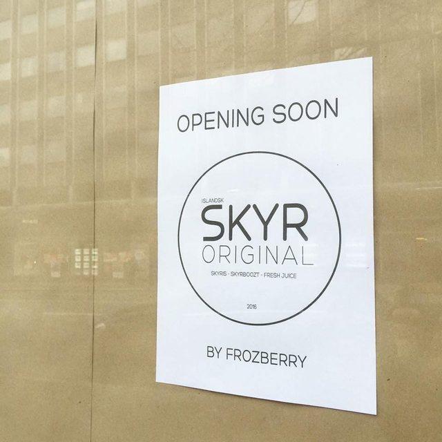 Skyrið í drykkjunum og ísnum á Skyr Original er lífrænt.