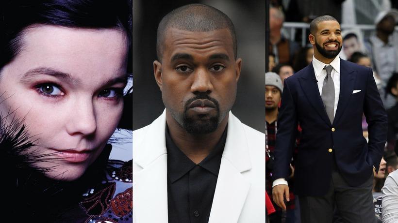 Sameina Björk, Kanye West og Drake krafta sína?