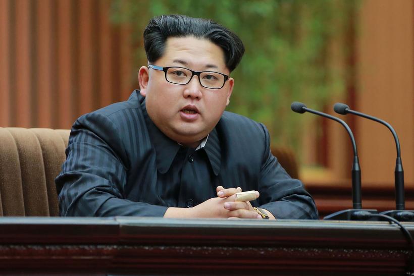 Kim Jong-Un leiðtogi Norður-Kóreu.