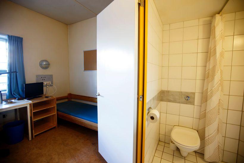 Fangaklefi í Skien-fangelsinu í Ósló þar sem Breivik dvelur.