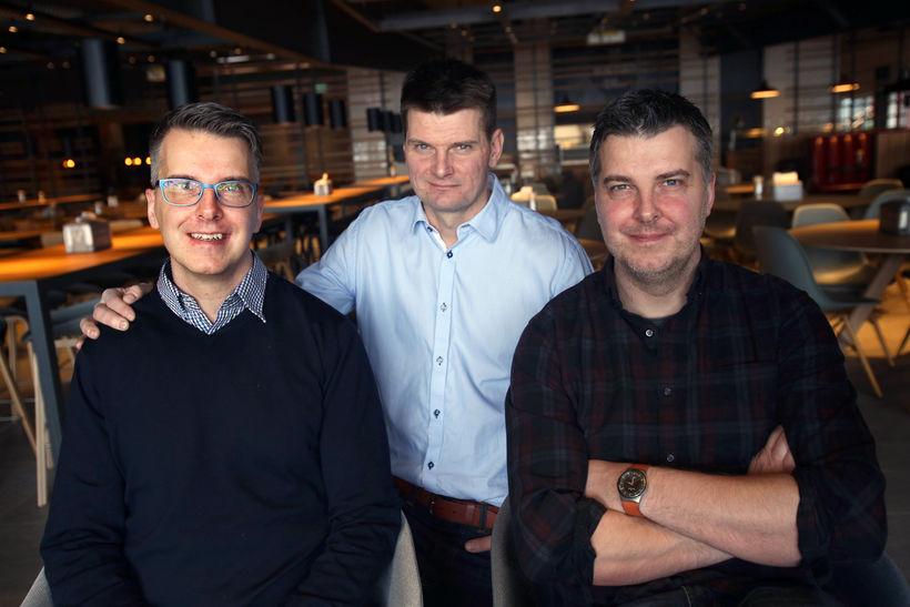 Helgi, Jón og Haraldur Svavarssynir.