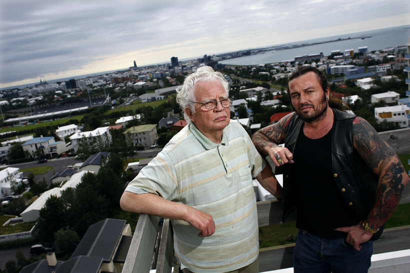 Feðgarnir Bragi og Fjölnir Geir