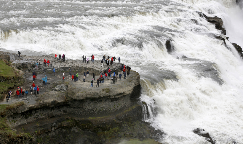 Gullfoss, Iceland's best known waterfall forms part of the Golden ...