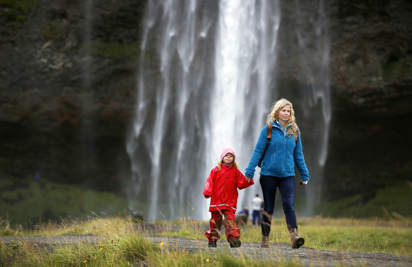 The lovely Seljalandsfoss is a popular spot to visit but ...