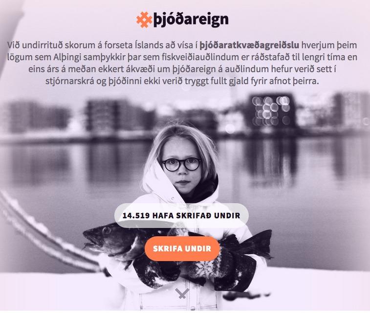 Þónokkur fjöldi vill að forseti vísi lögum um fiskveiðiauðlindir í ...