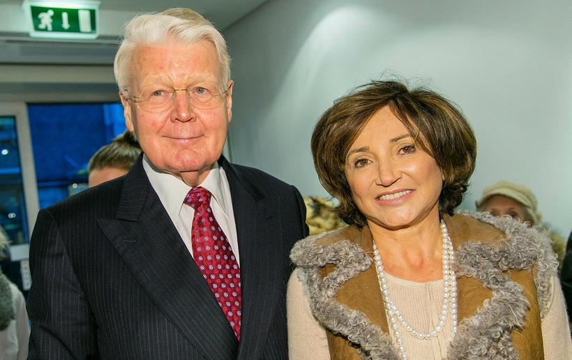 President Ólafur Ragnar Grímsson and his wife, Israeli-British jewellery designer ...