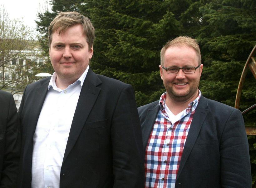 Sigmundur Davíð Gunnlaugsson og Hjálmar Bogi Hafliðason.