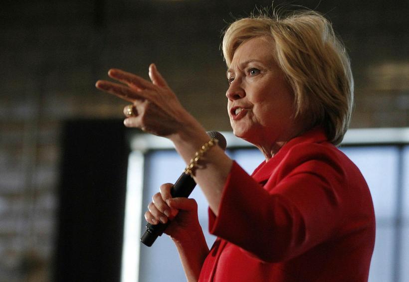 Hillary Clinton gagnrýndi Trump harðlega í dag.