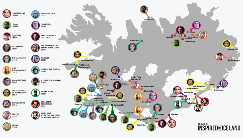 Interactive map shows Icelands most famous film locations – Iceland Tourist Map