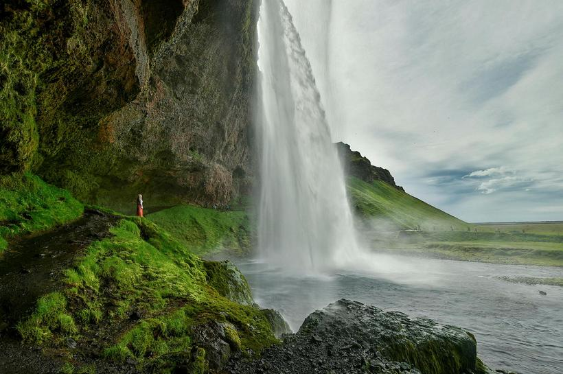 Seljalandsfoss is one of few waterfall with a view from ...