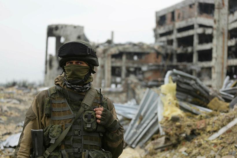 Frá úkraínsku borginni Donetsk.