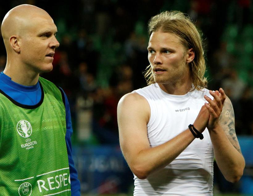Emil Hallfreðsson og Birkir Bjarnason.