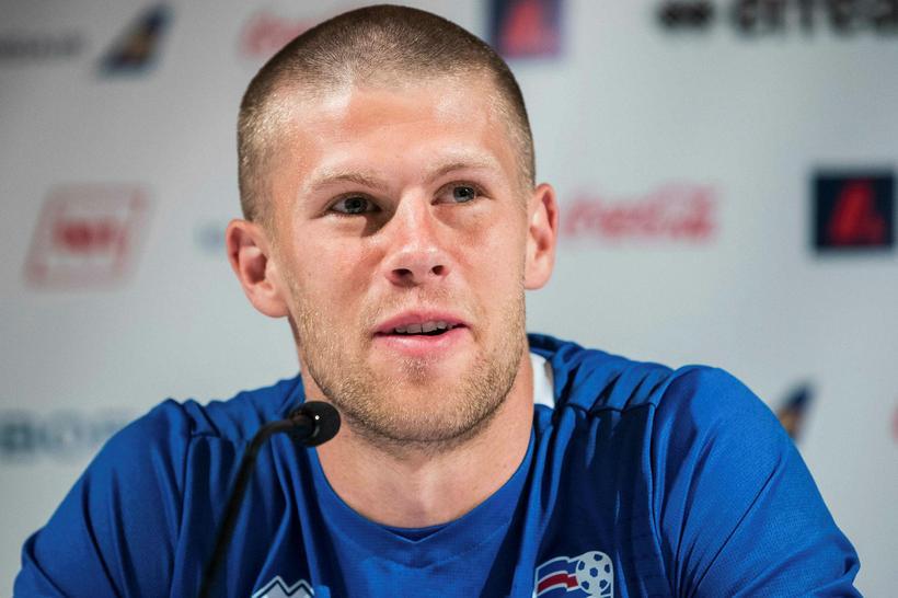 Jóhann Berg Guðmundsson á von á barni með unnustu sinni.