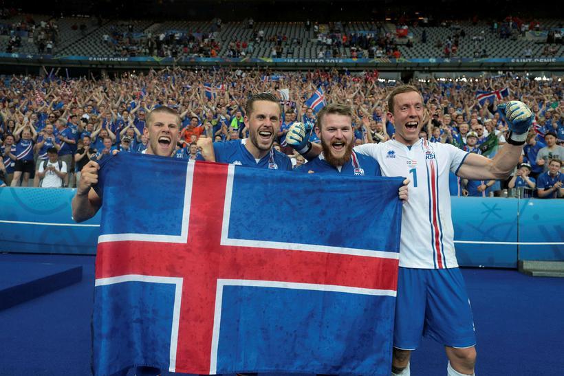 Jóhann Berg Guðmundsson, Gylfi Þór Sigurðsson, Aron Einar Gunnarsson og ...