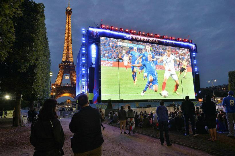 The Brit was reportedly supporting Iceland in Paris when he ...