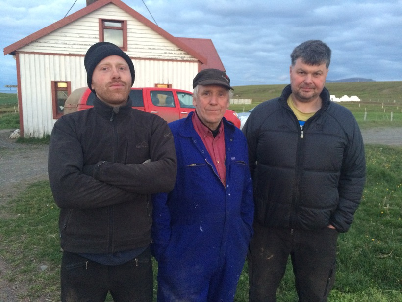 Egill Bjarnason (left), Bjarni Egilsson (centre) and Jón Sigurjónsson (right).