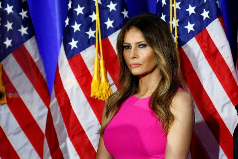 Melania Trump er notuð til þess að selja salami-pylsur.