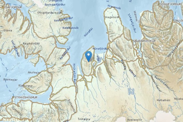 Vatnsnes peninsula is located in North West Iceland.