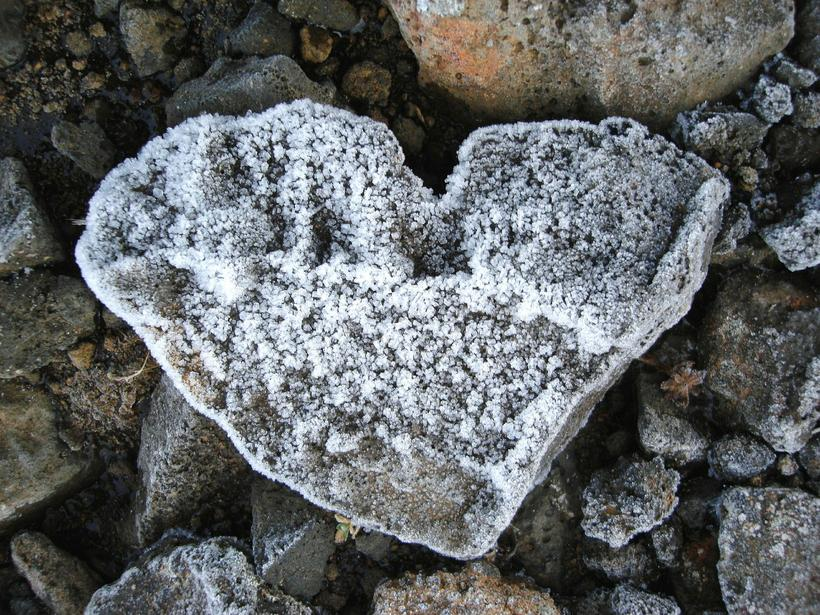 A heart found in December 2010 at Kleifarvatn, South Iceland.