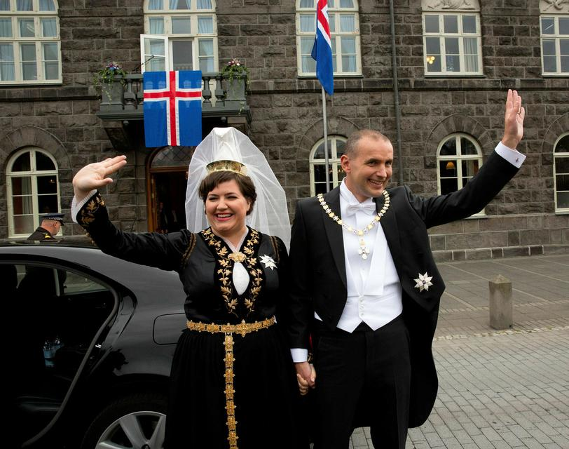 The President and First Lady of Iceland.
